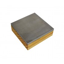 "3"" Hardened Steel Combination Bench Block with Wooden Base"