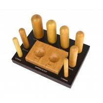 8 Piece Wooden Dapping Doming Punch Block Set - 10 MM to 31 MM