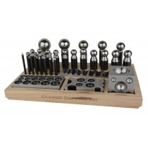 Classic Steel Dapping Set w/ Forming Blocks, Plate, & Punches