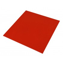 """6"""" x 6"""" Red Precision Urethane Pad 1/16"""" Thickness"""