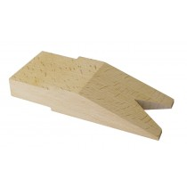 "5-1/4"" x 2-1/4"" Hardwood Bench Pin with V-Slot"