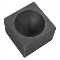 "2"" x 1-1/2"" Graphite Single Cavity Conical Cone Gold Casting Mold"