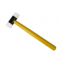 """Nylon Hammer w/ 1-1/4"""" Faces and Wooden Handle"""