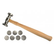 Texturing Pattern Hammer with 7 Interchangeable Faces