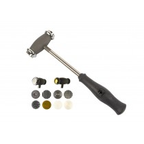 12 Multi-Face Texturing Interchangeable Metal Jewelry Hammer Set