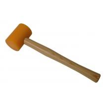 "2-1/2"" Nylon Yellow Hammer w/ Round Wooden Handle"