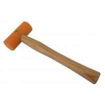 "1-1/2"" Nylon Yellow Hammer w/ Round Wooden Handle"