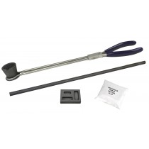 1/4, 1/2, & 1 T. Oz Torch Smelting Gold Refining Kit with Mold Tongs Borax Stir Rod & Crucible Cup