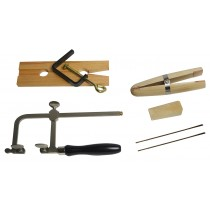 Jewelry Making Tool Kit Saw Frame, Ring Clamp, Bench Pin, and Blades