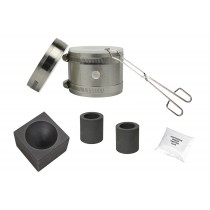 "Deluxe Mini Kwik Kiln Propane Furnace Kit w/ 2"" x 1-1/2"" Single Cavity Graphite Conical Mold"