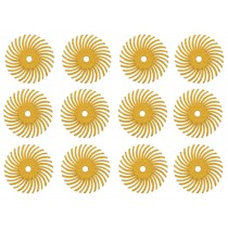 "12 Pack 3/4"" Yellow 80 Grit 3M Micron Radial Disc Set"