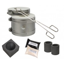 Mini Kwik Kiln Kit w/ Tongs Chapman Flux, Flux Thinner, Conical Mold & 2 Graphite Crucibles