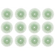 "12 Pack 3/4"" Light Green 1 Micron 3M Radial Disc Set"