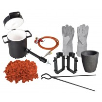 USA Cast Masters LARGE CAPACITY Propane Furnace KIT with 10KG Crucible and Tongs Kiln Smelting Gold Silver Copper Scrap Metal Recycle