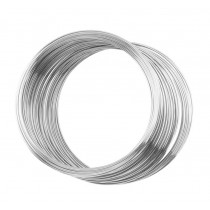 """0.25"""" Stainless Steel Memory Wire - 1 oz Large Bracelet"""