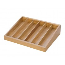 Wooden File Organizer Tray with 6 Compartments
