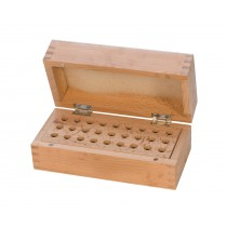 Wooden Stamp Storage Box Organizer with 27 Holes