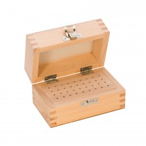 Wooden Bur Box with 36 Holes
