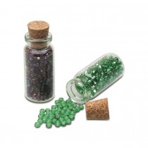 Box of 50 Glass Bead Bottles with Cork