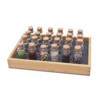 Wooden Bead Storage Bottle Tray