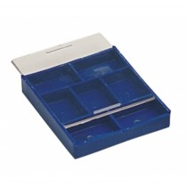7 Compartment Tray w/ Sliding Lid