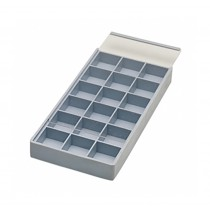 18 Compartment Tray w/ Sliding Lid
