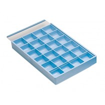 24 Compartment Tray w/ Sliding Lid
