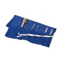 Blue Metal Clay Tool Pouch