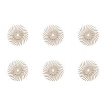 """6-Piece White 3M Micron Radial Discs - 9/16"""", 120 Grit"""