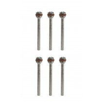 "6 Piece Set of Polishing Mandrels w/ Reinforced Screw and 3/32"" Shank"