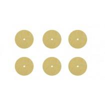 "Set of 6 - 1/8"" Thickness x 1"" Diameter Soft Polishing Discs"