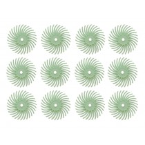 "12 Pack 9/16"" Light Green 1 Micron 3M Radial Disc Set"