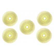 "5 Pack of 3"" Yellow Radial Discs - 80 Grit"