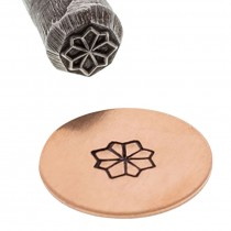 5 MM Traditional Flower Floral Stamp