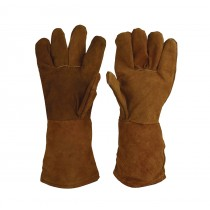 "Premium 13"" Brown Heat-Resistant Gloves"