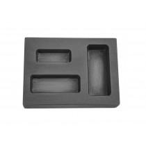1/4-1/2-1 oz Ounce Combo Silver Graphite Ingot Mold