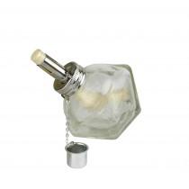 "Alcohol Glass Burner Lamp w/ Adjustable 1/2"" Wick"