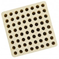 Honeycomb Ceramic Block Square w/ 64 Holes (4 mm Diameter)