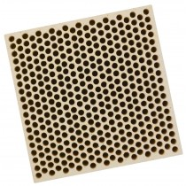 Honeycomb Ceramic Block Square w/ 385 Holes (2 mm Diameter)