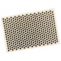 Honeycomb Ceramic Block Square w/ 374 Holes (2 mm Diameter)