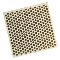 Honeycomb Ceramic Block Square w/ 294 Holes (2 mm Diameter)