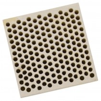 Honeycomb Ceramic Block Square w/ 168 Holes (2 mm Diameter)