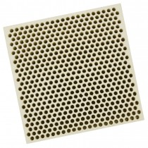 Honeycomb Ceramic Block Square w/ 537 Holes (2 mm Diameter)