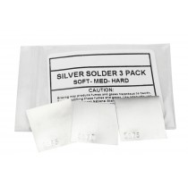 3 Piece Silver Solder Sheet - 1 DWT Each of Soft, Medium, and Hard