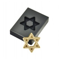 1 Troy Ounce Gold Star Of David Graphite Ingot Mold
