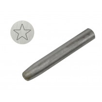 "3/8"" 9.5 mm Steel Star Stamp"