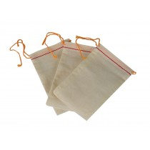"Pack of 3 Cloth Drawstring Storage Bags - 5"" x 3"""