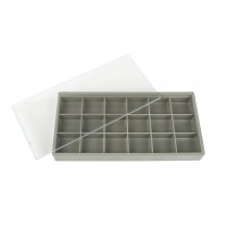 "7-1/2"" X 3-3/4"" x 1"" Plastic Box Organizer Case w/ 18 Compartments"