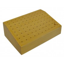 Angled Wooden Bur Block Drill Holder - 88 Holes