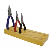 "8-1/2"" x 1"" Solid Wood Plier & Cutter Rack"